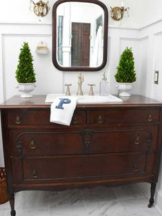 Diy dresser vanity archives my nightstand into a bathroom vanity h turning a dresser into old dresser turned bathroom vanity tutorial diy bathroom vanity [. Dresser Vanity Bathroom, Vanity Sink, Diy Vanity, Bathroom Cabinets, Small Vanity, Furniture Vanity, Bathroom Mirrors, Vanity Cabinet, Bathroom Marble