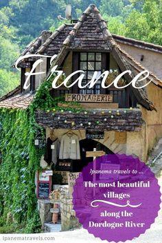 Itinerary of places to visit along the Dordogne River in France, including some of the most beautiful villages in France: Argentat, Domme, Rocamadour, Loubressac, Beaulieu-sur-Dordogne, the medieval castle and village Les Tours de Merle, the open-air museum-village Les Fermes du Moyen Age, the castle in Bort-les-Orgues and the amazing water gardens Les Jardins d'Eau in Carsac. #france #dordognevalley #themostbeautifulvillages #franceattractions #travel #europe #beautifulplaces #dordogne #rocamad Europe Travel Guide, France Travel, Travel Destinations, Travel Plan, Paris Travel, Solo Travel, Travel Guides, Visit France, South Of France