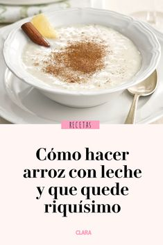Coffee arroz con leche keto, rice pudding, rice with . Homemade Rice Pudding, Easy Pudding Recipes, Milk Recipes, Baking Recipes, Sweet Recipes, Mexican Dinner Recipes, Brunch Recipes, Mexican Food Recipes, Snack Recipes