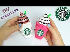 DIY Starbucks con Hama Beads | How To Make Starbucks with Perler Bead ✿ - YouTube
