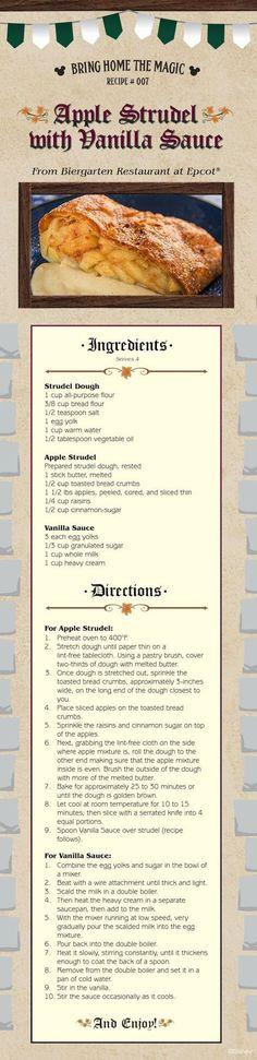 DISNEY RECIPE: Celebrate Oktoberfest With Apple Strudel Recipe from Biergarten Restaurant