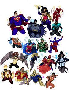 Tried some JLU colors on my Justice League Sketchbook Page Justice League Animated, Justice League Comics, Arte Dc Comics, Dc Comics Superheroes, Dc Comics Characters, Shazam Comic, Harley Queen, Action Comics, Marvel Avengers Movies