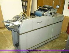 8428A.JPG - AM Multilith offset printing press, Model 125...