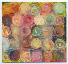 """Crayon Encaustic"" by Encarna. ""I used an electric griddle covered with heavy aluminum foil as a warming table and drew on some different substrates using some old, broken crayons, which melted when they touched the paper."""