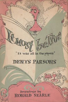 Pink and Mint...love!!!!  book by Ronald Searle
