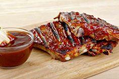 Salsa Barbacoa Thermomix americana casera una receta fácil y rápida perfecta para costillas al horno y muy al estilo del Foster's Hollywood y que también es válida para pizzas, alitas de pollo u otras carnes. Salsa Barbacoa Casera, Pozole, American Food, Spanish Food, Mcdonalds, Tapas, Grilling, Pork, Favorite Recipes