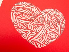 Handmade Paper Cut Heart for Valentine's Day by rashe on Etsy, $50.00
