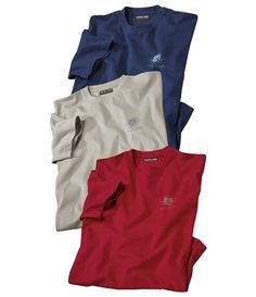 Lot De 3 Tee-Shirts Tadoussac #atlasformen #avis #discount #livraison #commande #winter #canada