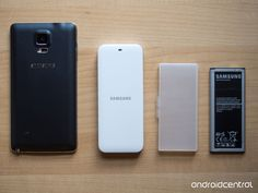 The Samsung Galaxy Note 4 official extra battery kit.