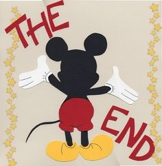 DISNEY SCRAPBOOK -The end - last page