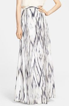 Silky maxi skirt in a sophisticated color palette and print