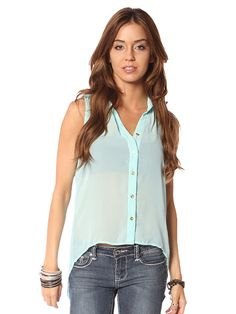 Papaya Clothing Online :: HIGH AND LOW BUTTON UP DRESSY TOP