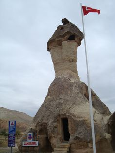 "This is a Jandarma (that means ""police post"" in Turkish) near Göreme in Cappadocia (Turkey)"