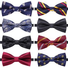 Men Tuxedo Colorful Floral Bow Tie Wedding Party Adjustable Pre-tied Bowtie