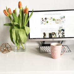 Cappuccino and Fashion - Home decor - tulips - minimalist decor - blogging