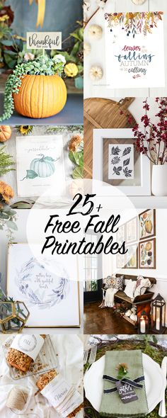 """Free watercolor print, perfect for autumn time! """"Leaves are falling, Autumn is calling"""""""