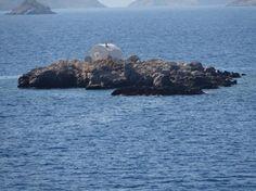 Greece; tiny chapel on islet off Hydra