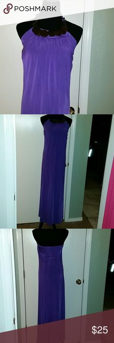 Maxi dress halter Maxi dress halter Westwood embellishments on neckline.  NWOT Dresses Maxi