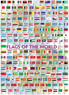 size: Stretched Canvas Print: Flags of the World Canvas Art : Using advanced technology, we print the image directly onto canvas, stretch it onto support bars, and finish it with hand-painted edges and a protective coating. Flags Of The World, Countries Of The World, World Puzzle, Painting Edges, Stretched Canvas Prints, Puzzle Pieces, 1000 Piece Jigsaw Puzzles, Custom Framing, Canvas Wall Art
