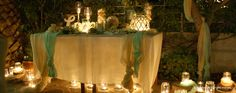 We mobilized abundance of candles in order to unfold their own love story. Love Story Wedding, Wedding Decorations, Table Decorations, Candles, Home Decor, Decoration Home, Room Decor, Wedding Decor, Candy