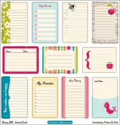 free journaling cards-- these are great!