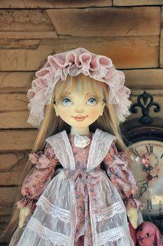 Купить текстильная кукла - розовый, текстильная кукла, коллекционная кукла, интерьерная кукла, авторская кукла