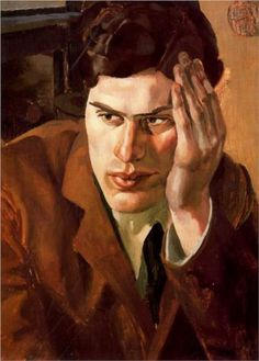 Richard Carline by Stanley Spencer Date painted: 1923 Oil on canvas, 56 x 41 cm Collection: Rugby Art Gallery and Museum Art Collections Stanley Spencer, Senior Girl Photography, Figure Painting, Painting & Drawing, Dame Mary, Lucian Freud Portraits, Portrait Art, Male Portraits, Portrait Paintings