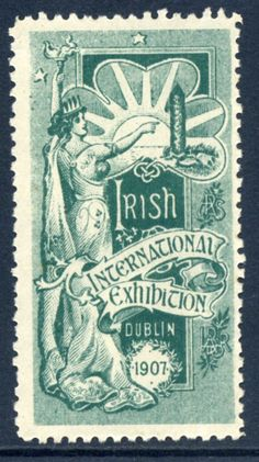 International Irish Exhibition Cinderella stamp Dublin 1907