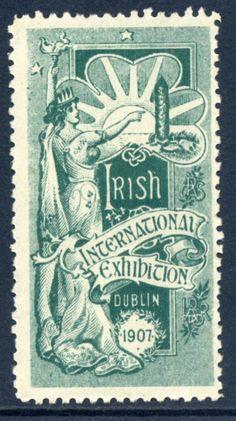International Irish Exhibition Cinderella stamp Dublin 1907