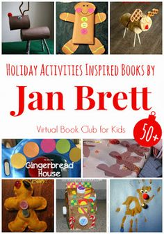 Holiday Activities Inspired by Books by Jan Brett featured at the Virtual Book Club for Kids Preschool Christmas, Preschool Books, Christmas Crafts For Kids, Christmas Themes, Holiday Crafts, Holiday Fun, Kindergarten Literacy, Winter Holiday, Favorite Holiday