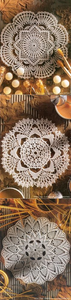 ROUND OPENWORK NAPKINS. SELECTION