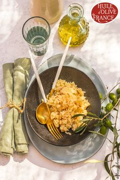 Le plaisir du week-end : un risotto au safran !