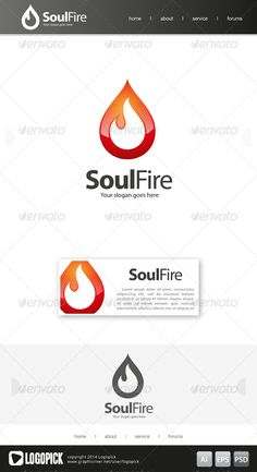 Soul Fire Logo Template — Photoshop PSD #best #red • Available here → https://graphicriver.net/item/soul-fire-logo-template/7945521?ref=pxcr