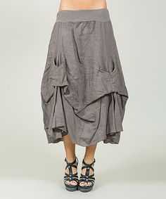 Another great find on #zulily! Mole Tucked-Hem Linen Skirt - Plus Too #zulilyfinds