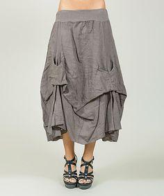 Look at this #zulilyfind! Mole Tucked-Hem Linen Skirt - Plus Too #zulilyfinds