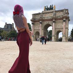 "36.8k Likes, 331 Comments - Gina 🔰悪役 (@missginadarling) on Instagram: ""Today, I am a rose.🥀 #Louvre #BTWThisDressHasPOCKETS #POCKETS!!!!!!!"""