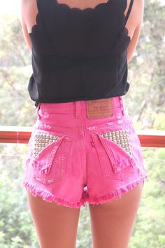 Vintage, cutoff, shredded,  destroyed,  grunge, omen eye, short, shorts, studded, distressed, denim, high waisted, cut off