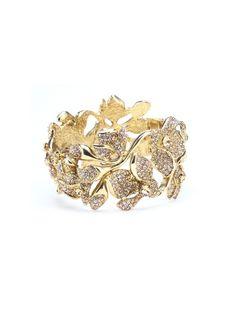 Oscar de la Renta Gradient Swarovski Crystal Flower Bracelet
