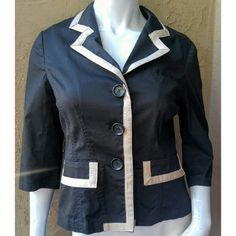 Michael Kors black cropped jacket Michael Kors fitted cropped jacket 3/4 sleeves Button front closure Size 6 Never worn MICHAEL Michael Kors Jackets & Coats Blazers
