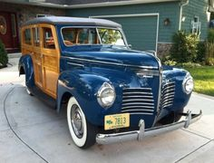 1940 Plymouth Deluxe woody wagon
