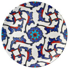 Turkish Moroccan Persian Asian Iznik Mosaic Tiles Porcelain Plates