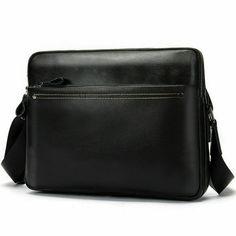 26c5a56185 2019 Black Mens 100% Real Leather Shoulder Bags Business Work Bag Shoulder  Bags  fashion