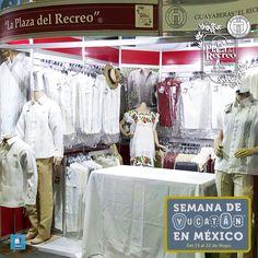 """Terminando de instalarnos para recibirlos con los brazos abiertos en """"La Semana de Yucatán en México"""" Los esperamos mañana viernes 13, nos encontraremos de la entrada de la Expo por la puerta principal del lado derecho en el STAND No. 10 (El flujo natural de la gente es por el pasillos del lado derecho). ¡No te quedes sin lucir una Guayabera de #LaPlazadelRecreo!"""