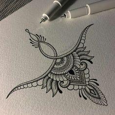 Er zit een symmetrie in het werk. Als je het door de helft doet. - #Dessintatouage #Idéesdetatouages #Tatouagefemmediscret #Tatouagefleur #Tatouageminimaliste #Tatouagerose