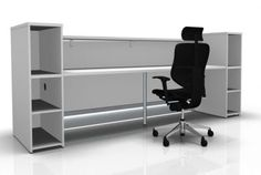 Valde Straight Reception Desk Rear View