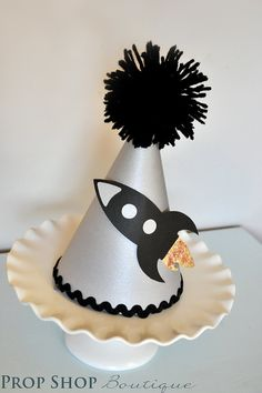 Boy's Rocket Ship Birthday Party Hat, Special Occasion, Dress up, Photo Prop