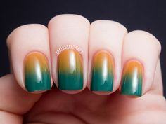 Sponged 70s Gradient; one day I want to do one of these (maybe not in these colors).