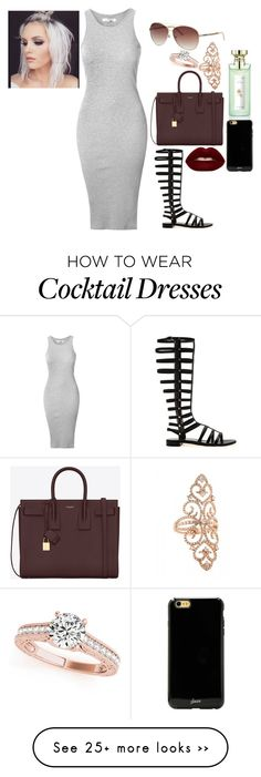 """""""Sunny Day"""" by jstyles-628 on Polyvore featuring Glamorous, Stuart Weitzman, Yves Saint Laurent, Just Cavalli, Allurez, Sonix and Lime Crime"""