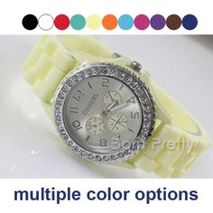 $8.98 Unisex Watch Fluorescent Silicone Watch Student's Prize Watch - BornPrettyStore.com