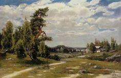 Finnish Landscape in Summer - 1879 - Churberg, Fanny Ateneum Helene Schjerfbeck, Chur, Postcards For Sale, Vintage Postcards, Prinz Eugen, Grand Palais, Cool Landscapes, Louvre, Paris